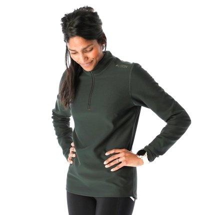 Fusion | Zip Neck | Green | Dames