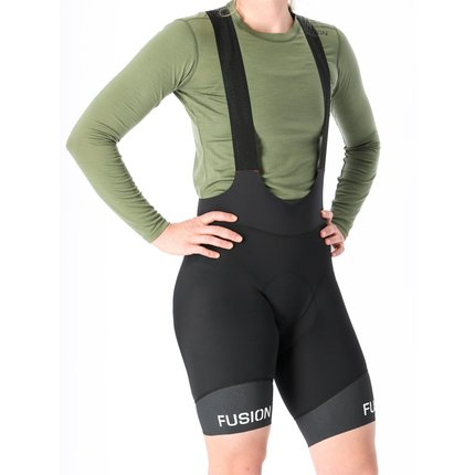 Fusion | C3 Cycle Bib | Black | Dames