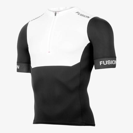 Fusion | SLi Tri Top Short Sleeve | White/Black