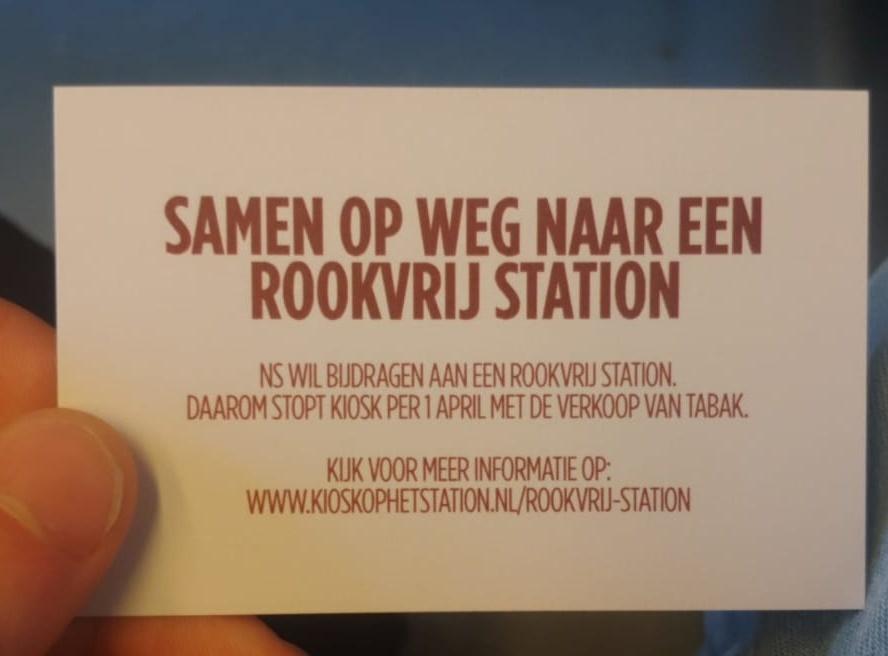 Kan je straks nog sigaretten kopen op het station?