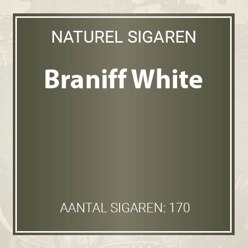 Braniff White filter cigarillos
