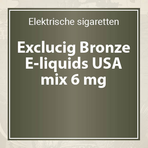 Exclucig Bronze E-liquids USA mix 6 mg