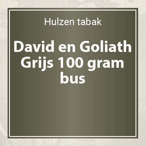 David en Goliath Grijs tabak - 100 gram