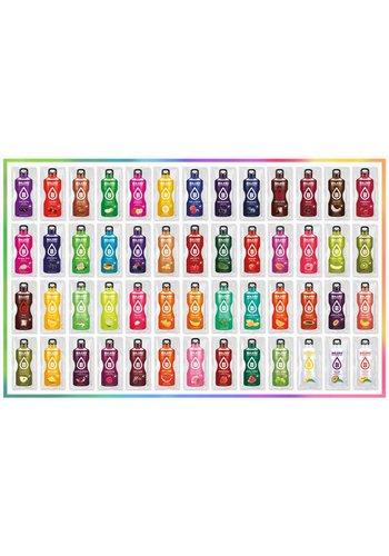 Bolero Proefpakket | Alle 79 smaken | 156 liters ( 79 zakjes x 9g)