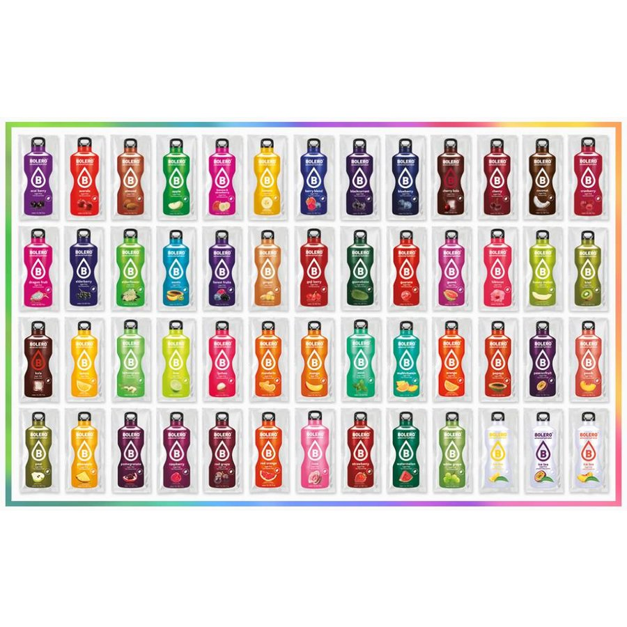 MIX PACK | all 79 flavors | 156 liters ( 79 sachets x 9 g )