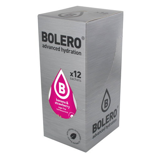 Bolero Banaan & Aardbei met Stevia | 12 stuks (12 x 9g)