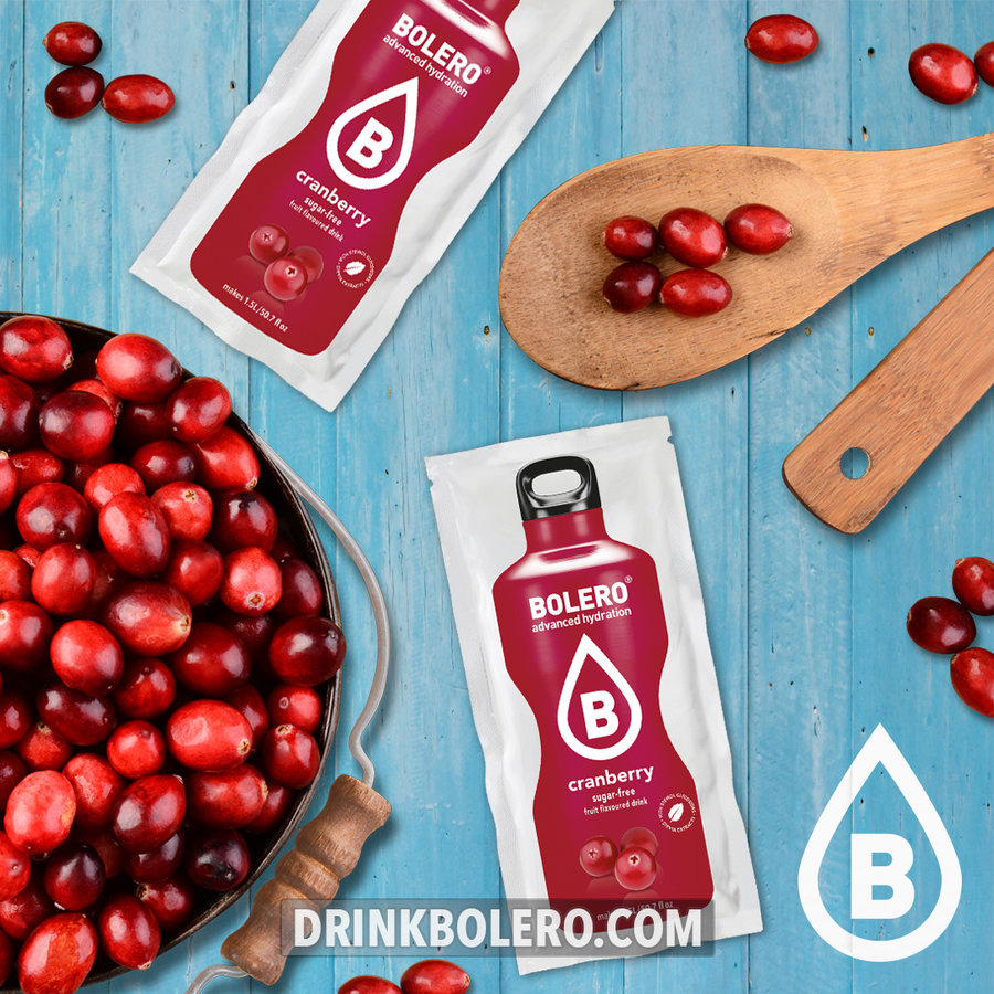 Cranberry 12 sachets with Stevia