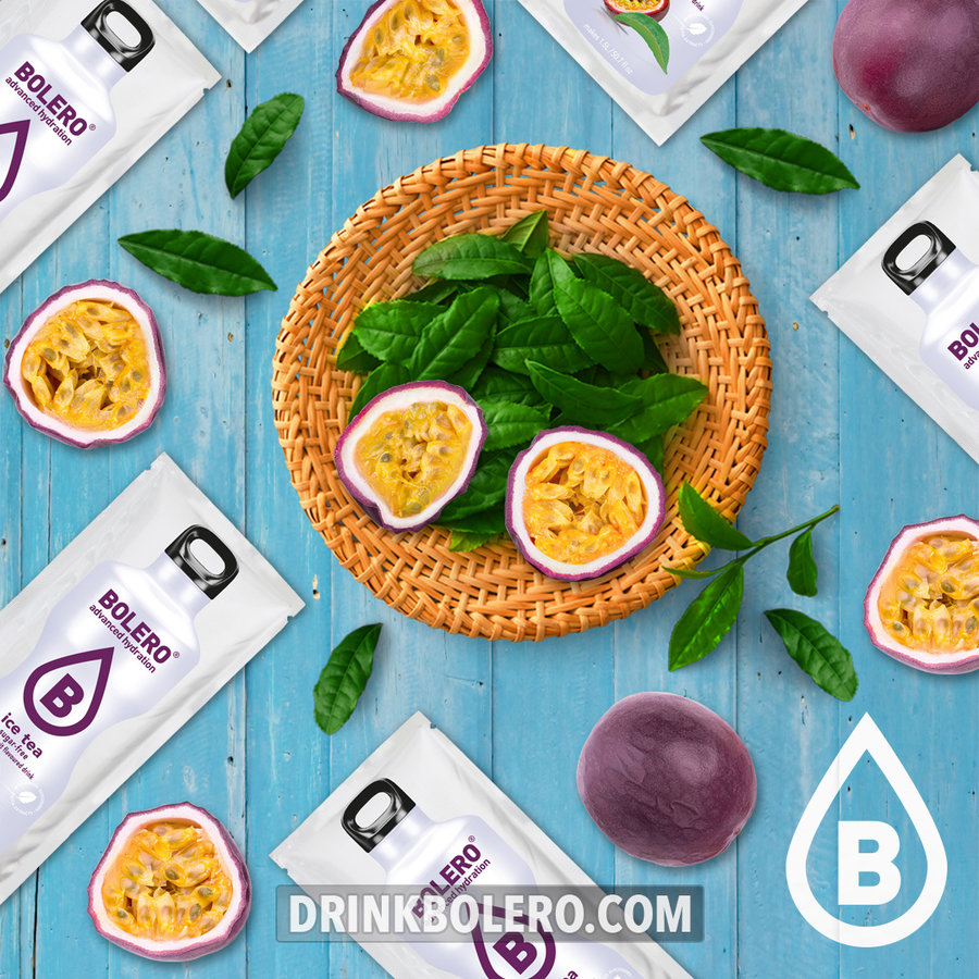 ICE TEA Passion Fruit 12 sachets with Stevia