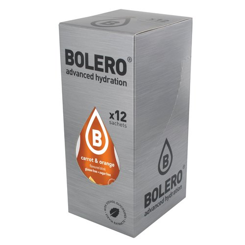 Bolero Carrot & Orange 12 sachets with Stevia