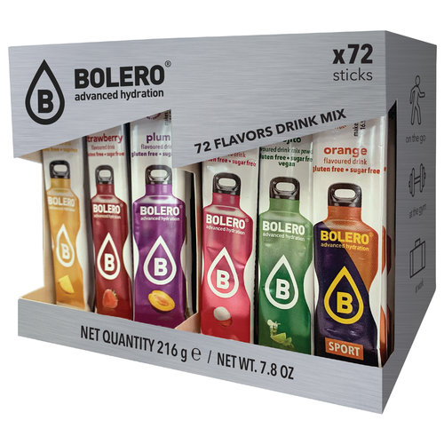 Bolero STICKS | MIX PACK |  72 geschmack (72 x 3g)