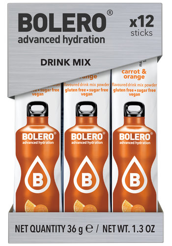 Bolero STICKS - Carrot & Orange (12x3g)