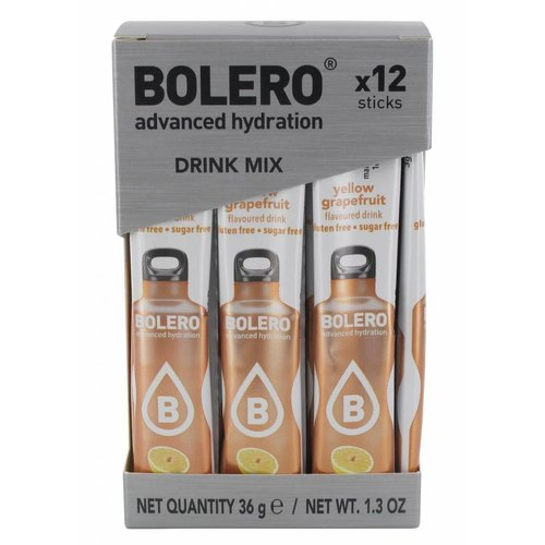 Bolero STICKS - Yellow Grapefruit (12 x 3g)