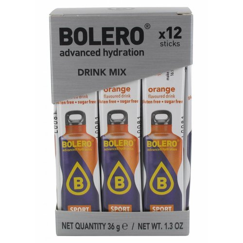 Bolero STICKS - SPORT Orange (12 x 3g)