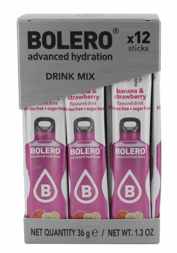 Bolero STICKS - Banana & Strawberry (12 x 3g)