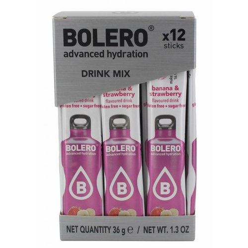 Bolero STICKS - Banana & Strawberry (12 x 3g)