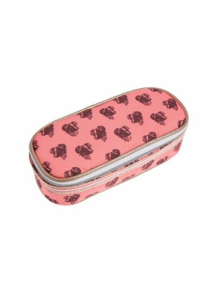 pencil box - lady dog