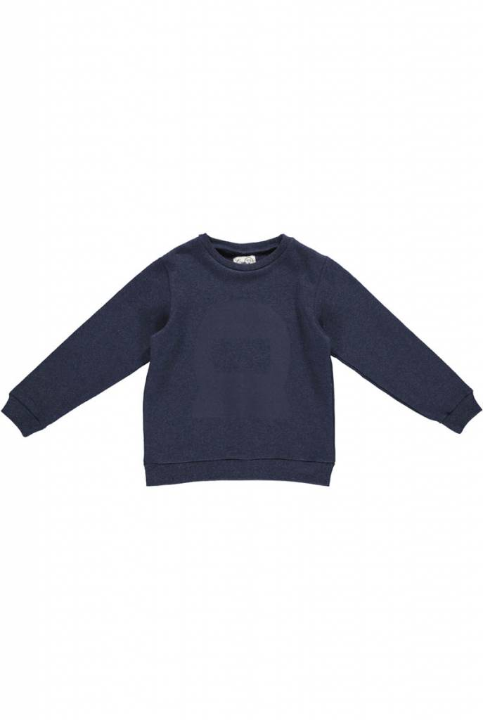 sweater - MADS Melange Mid Blue