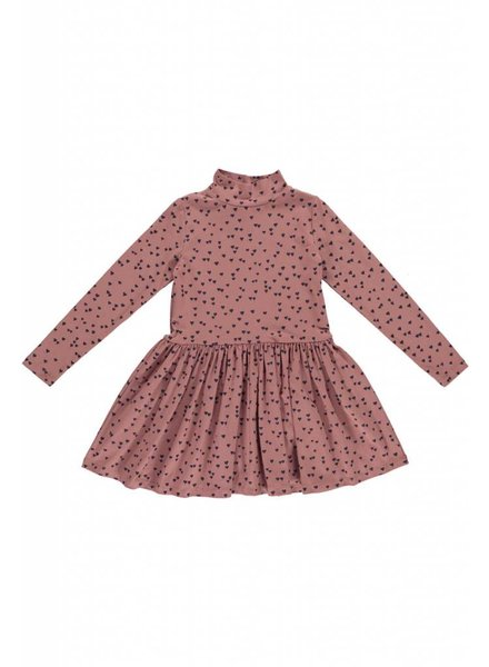 dress - CECILIE Dark Mud Hearts