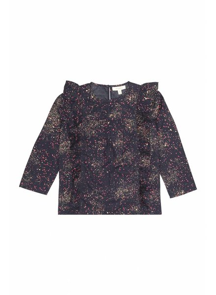blouse BETTE - black iris sprinkle
