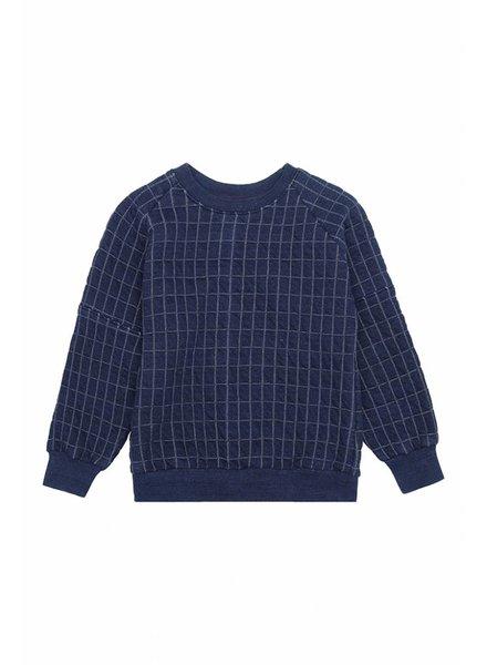 sweater BEAU - blue quilt