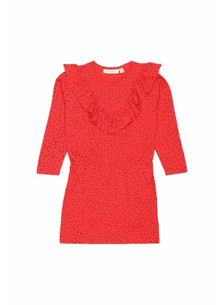 dress BEA - mars red mini dots