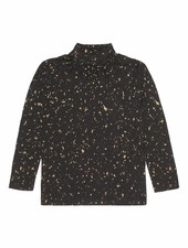 top FAYENNE - jet black flakes gold