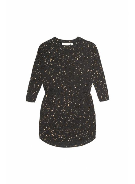 dress VIGDIS - jet black flakes gold