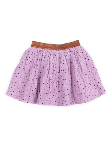 skirt ADELE - soft lila / brick dots