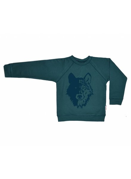 sweater Wolf - dark green