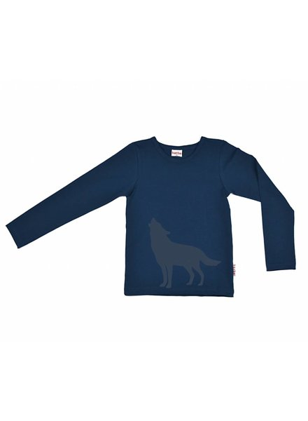 longsleeve Howling Wolf - dark blue