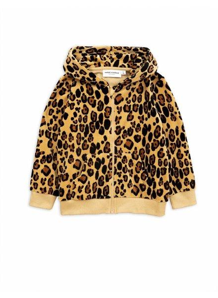 hoodie Leopard Velour - beige