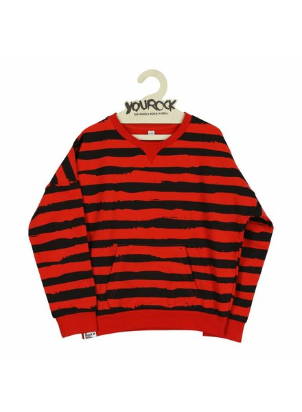 sweater Red Stripes