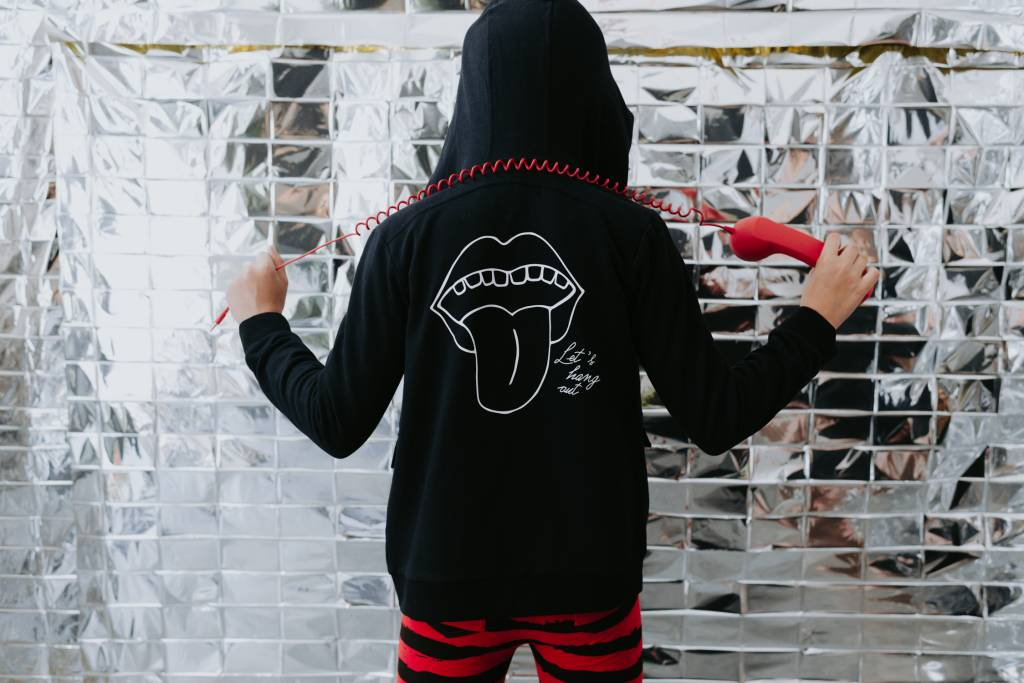 hoodie Let's Hang Out - black