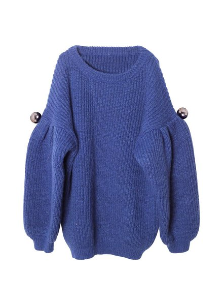 sweater knitted - blue Chloe