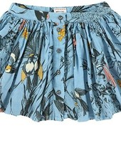 skirt - Aria Birds Wave Bleu