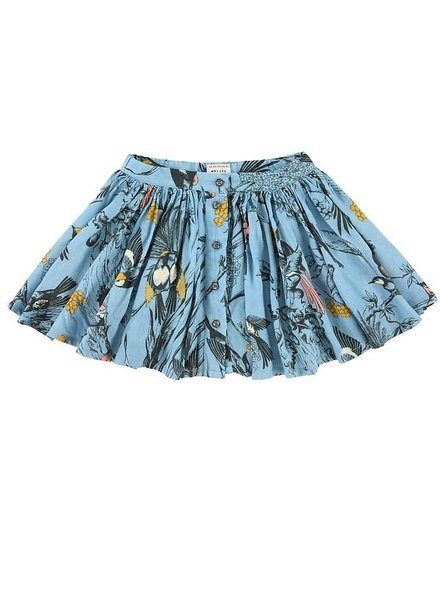 skirt - Aria Birds Wave Bleu