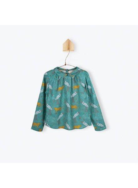 blouse Claudine - sergé imprimé jungle