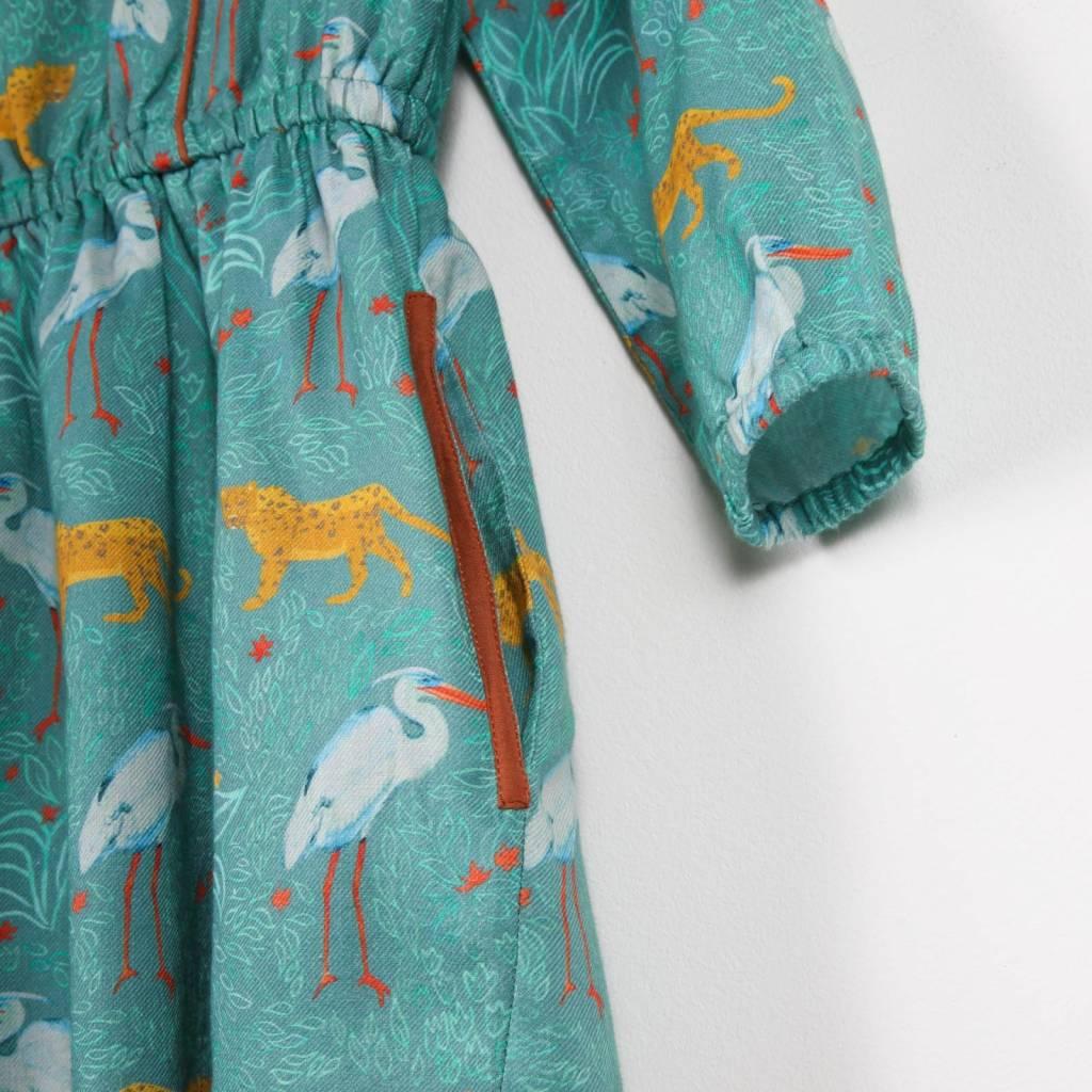 robe Elastiquée - sergé imprimé jungle