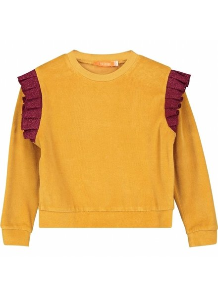 sweater - PINA gold/red