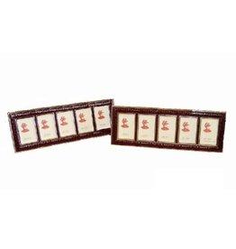 Luxurious Picture frame Bordeaux for 5 passport photos