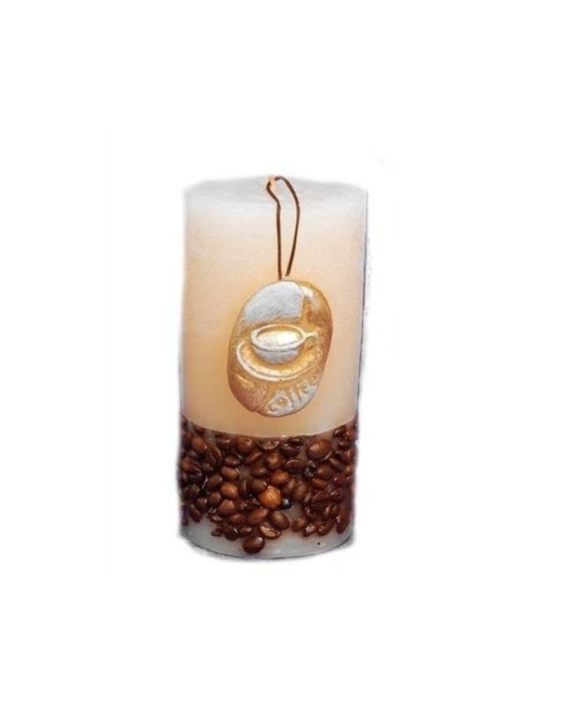 Candlestick Antique Look with Scented Candle