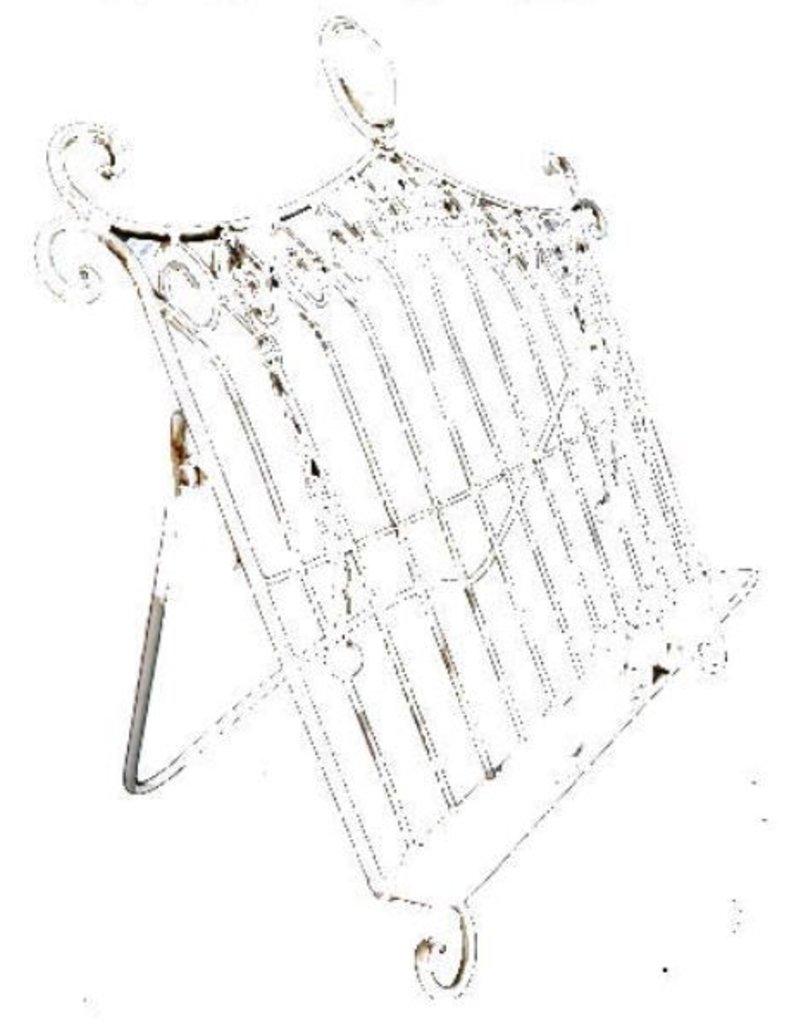 Brocante Muziek en Kookboekstandaard met gewichtjes 47 x 45 cm