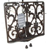 Cast iron cookbook stand with weights - 26.5 x 23 cm