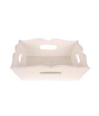 Witte Houten Dienblad 23 cm x 23 cm