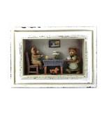 3-D Beren Schilderij 28 x 20 x 6.5 cm