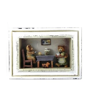 3-D Bears Painting 28 x 20 x 6.5 cm