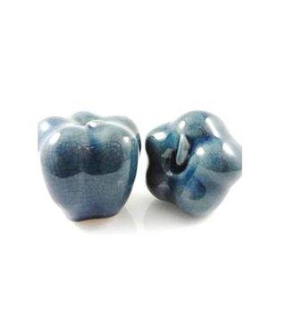 Beeldjes Pompoen Blauw - Set van 2 stuks
