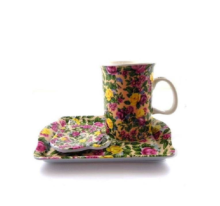 3-delige New Bone China Beker Theeset