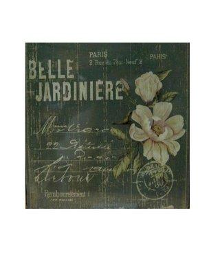 Nostalgische Metalen Wandbord Belle Jardiniere