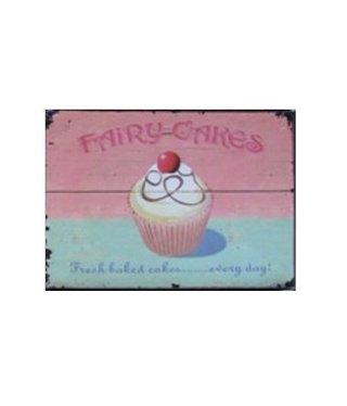 Nostalgische Metalen Wandbord Fairy Cakes